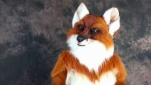 fox SAFE SERENADE SINGING TELEGRAM with the amazing mouth mover fox $125