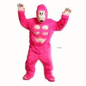 Hire a Pink Gorilla Singing Telegram