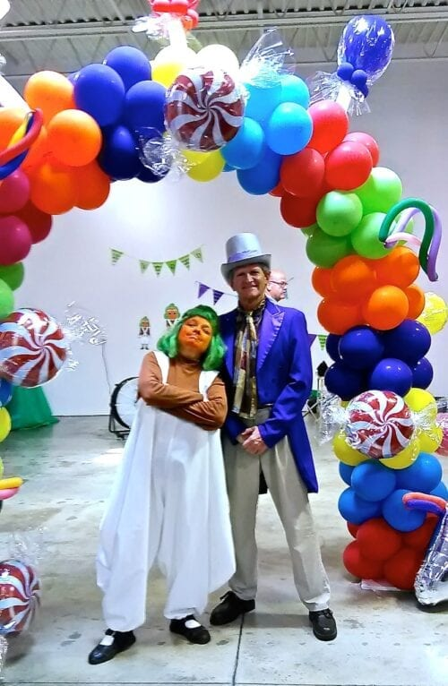 Hire Same Day Singing Telegrams,Balloons, Party Characters: Willy Wonka or an Ompa Loompa