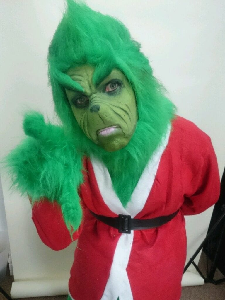 #thegrinchchicago  Grinch singing telegram $125. Hire an expert face painter or THE GRINCH for your Halloween, Birthday or Holiday party. 90 minutes $200