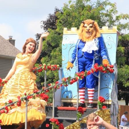 Hire Beauty And The Beast for your parade or Birthday Party