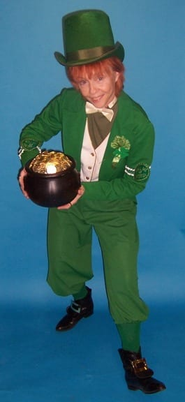 $125.00  Our Leprechaun illusion provides  The Legend of the Leprechauns ☘️  The Legend of the Leprechaun is alive and well and perfect for St. Patrick's Day revelers. Legend says: The person who captures the little fellow and got his Pot O Gold